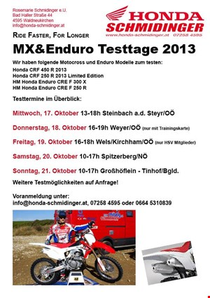 Honda CRF 2013 Testtag MX & Enduro Spitzerberg/NÖ
