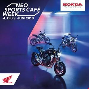 Neo Sports Café Week von 4. bis 9. Juni bei Honda Schmidinger