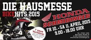DIE HAUSMESSE - BIKEHITS 2015 am 10./11.4. bei Honda Schmidinger - FORZA 125 eingetroffen!!