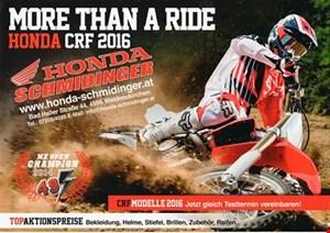 Honda CRF 2016 Testtage von Honda Schmidinger