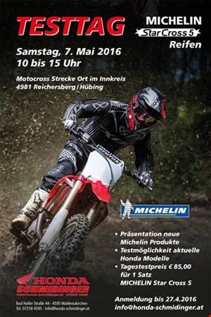 Reifentesttag Michelin Starcross 5 am 7.5. Ort im Innkreis