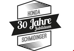 Inventur Aktionen im September bis 27.9.2017 bei Honda Schmidinger