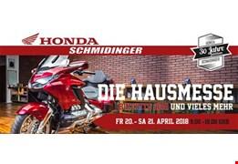 DIE HAUSMESSE am 20. und 21.4.2018 bei Honda Schmidinger